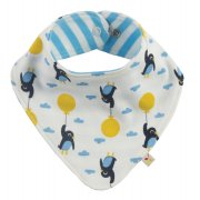 Frugi Penguin Dribble Bib - One Size