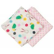 Frugi Lovely Hare & Tortoise Print Muslin Cloths - 2 Pack