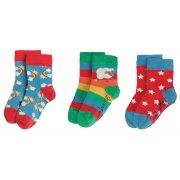 Frugi Little Rainbow Socks - 3 Pack