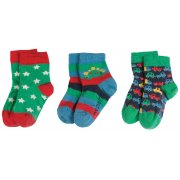 Frugi Little Dino Socks - 3 Pack
