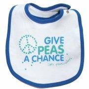 Organic Cotton Give Peas A Chance Bib