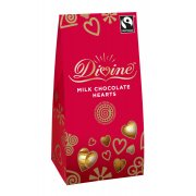 Divine Milk Chocolate Hearts 100g
