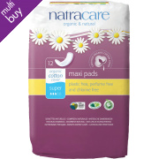 Natracare Organic Cotton Maxi Pads - Super - 12