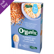Organix Multigrain Mini Cereal Puffs - 90g