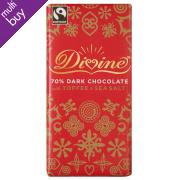 Divine Limited Edition Dark Chocolate with Toffee & Sea Salt - 100g