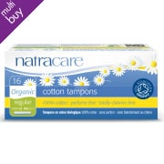 Natracare Organic Cotton Tampons with Applicator - Regular - 16