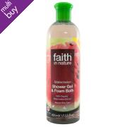 Faith In Nature Shower Gel & Foam Bath - Watermelon - 400ml