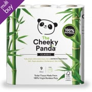 The Cheeky Panda FSC Bamboo Toilet Tissue - 9 Rolls