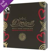 Divine Milk & Dark Chocolate Caramel Belgian Hearts - 42g