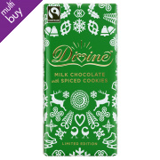 Divine Limited Edition Milk Chocolate with Spiced Cookies - 100g