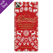 Divine Limited Edition Dark Chocolate with Cranberries & Hazelnuts - 100g