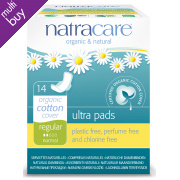 Natracare Organic Cotton Ultra Pads - Regular with Wings - 14