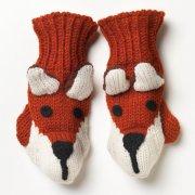 Kid's Fair Trade Fox Mittens - One Size