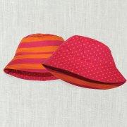 Sherbet Polka Dot Reversible Sun Hat (Sweet Pink)