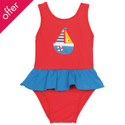 Frugi Little Sally Swimsuit - Sailboat
