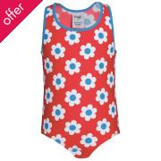 Frugi Sally Seaside Flower Spot Swimsuit