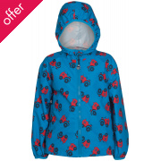 Frugi Puddle Buster Packaway Jacket - Tractor