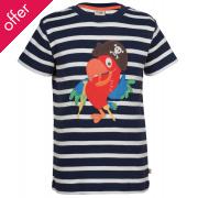 Frugi Ollie Applique Parrot T-Shirt