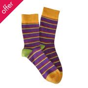 Doris & Dude Kids Stripe Bamboo Socks - Purple