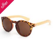 Round Bamboo Sunglasses - Tortoise Shell