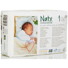 Naty by Nature Babycare Disposable Nappies - Size 1 - Pack of 26