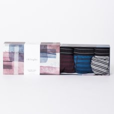 Thought Mens Stripey Bamboo Boxers Gift Box