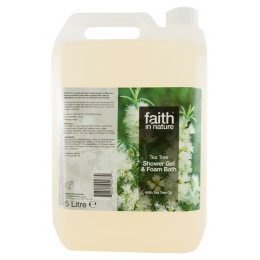 Faith In Nature Tea Tree Shower Gel & Bath Foam - 5L