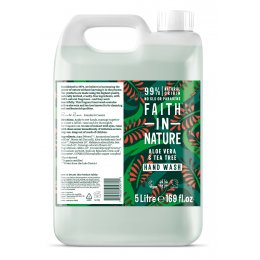 Faith In Nature Aloe Vera & Tea Tree Hand Wash - 5L