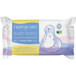 Natracare Organic Cotton Baby Wipes - 50