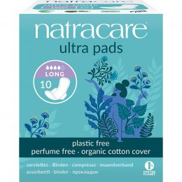 Natracare Organic Cotton Ultra Pads - Long with Wings - 10