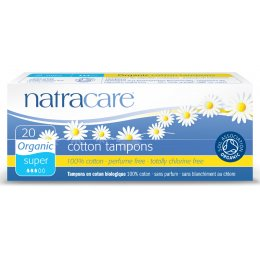 Natracare Organic Cotton Tampons - Super - 20