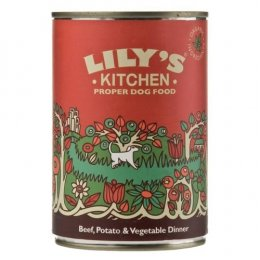 Lilys Kitchen Organic Beef & Vegetable Dinner For Dogs - 400g