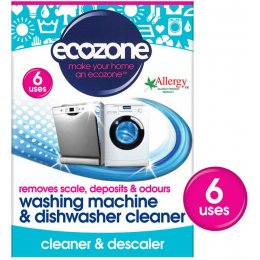 Ecozone Washing Machine & Dishwasher Cleaner - 6 Applications