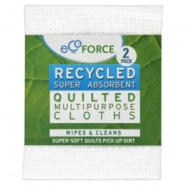 EcoForce Recycled Multipurpose Cloths - 2 Cloths