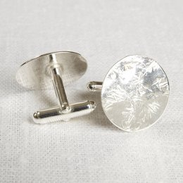 LA Jewellery Recycled Silver Rings Around You Cufflinks