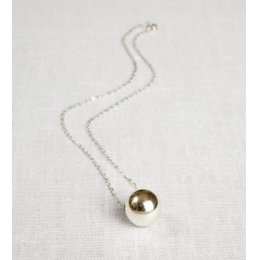 La Jewellery Recycled Silver Planet Necklace