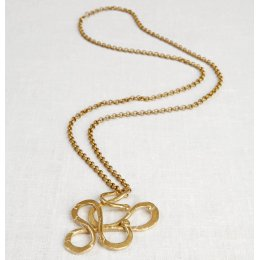 La Jewellery Recycled Brass Serpentine Necklace