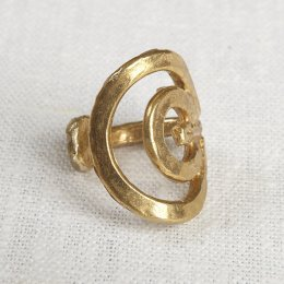 La Jewellery Recycled Brass Soliel Ring