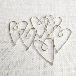 La Jewellery Recycled Silver Heart Page Savers
