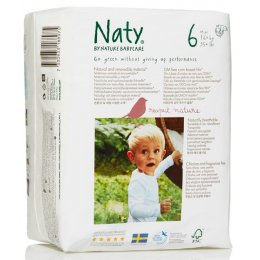Naty Eco Disposable Nappies - XL - Size 6 - Pack of 18