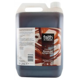 Faith In Nature Chocolate Shower Gel & Bath Foam - 5L