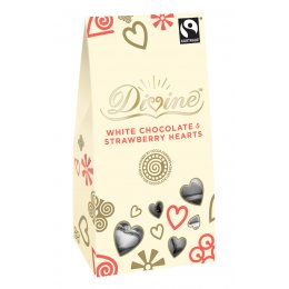 Divine White Chocolate with Strawberry Hearts