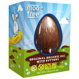Moo Free Organic & Dairy Free Easter Egg with Buttons - 120g