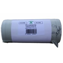 Compostable Bin Liner 30 Litre - Roll of 25