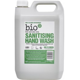 Bio D Sanitising Handwash - Lime and Aloe Vera - 5L