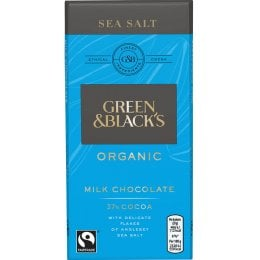 Green & Blacks Milk Chocolate with Sea Salt - 90g