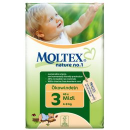 Moltex Nature Disposable Nappies - Midi