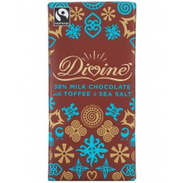 Divine Milk Chocolate with Toffee & Sea Salt sharing bar