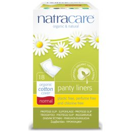 Natracare Organic Cotton Panty Liners - Individually Wrapped - Pack of 18