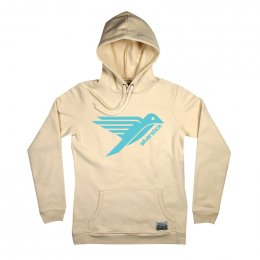 Womens Bird Logo Hoodie - Natural